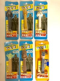 Pez star wars collectibles (mint condition & sealed) - darth vader/c3po/stormtrooper/yoda/chewbacca plus batman