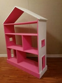 pink and white wooden dollhouse Pleasantville, 10570