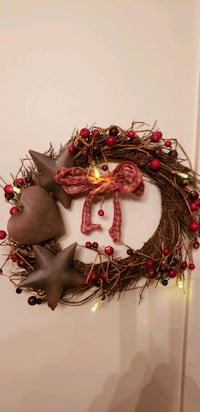 primitive 10in wreath with lights Martinsburg, 25403