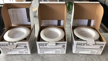 Halo 4inch recessed lights