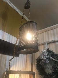 vintage light with antique pulley at the top Middletown