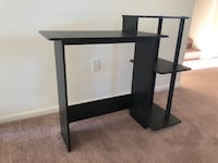 Black wooden computer desk with hutch Dover, 19901