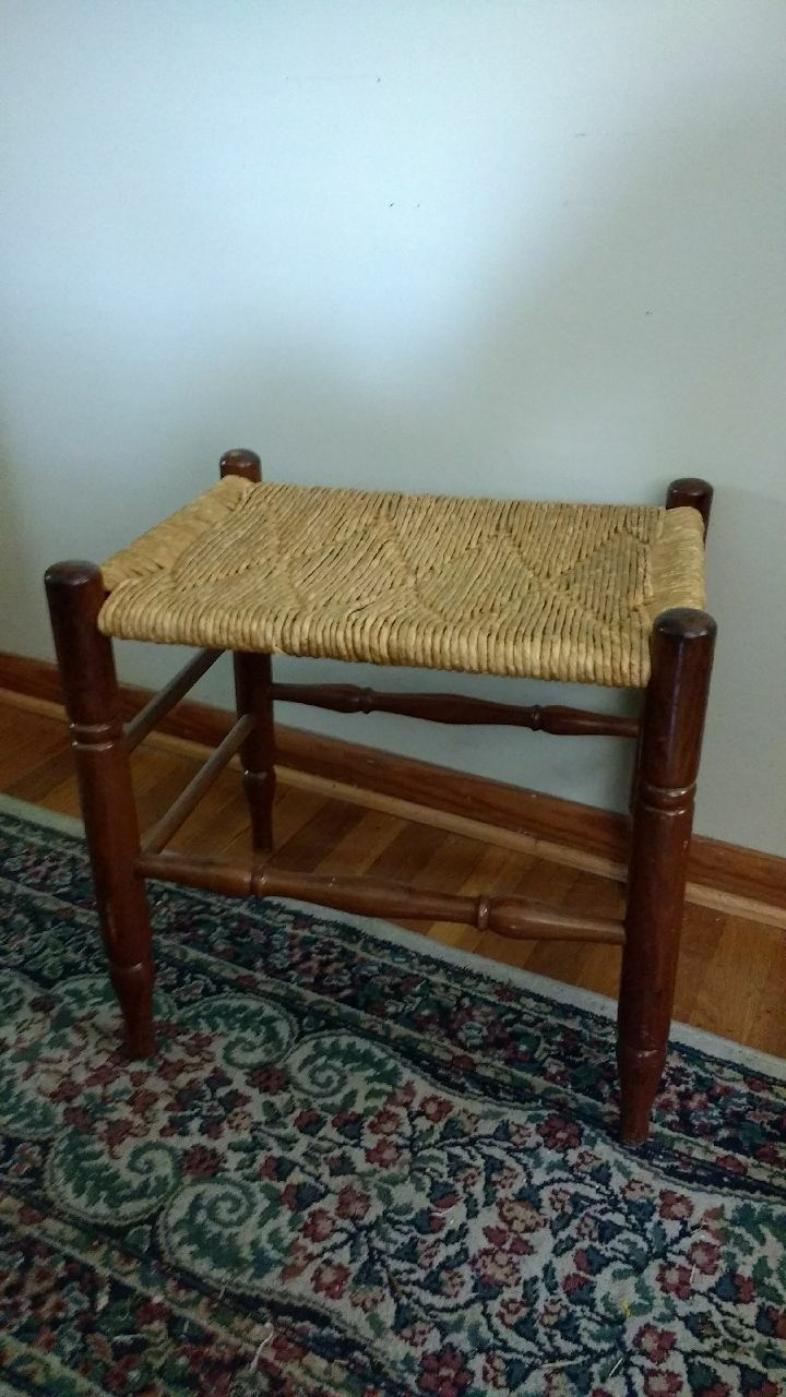 brown wooden frame brown wicker table
