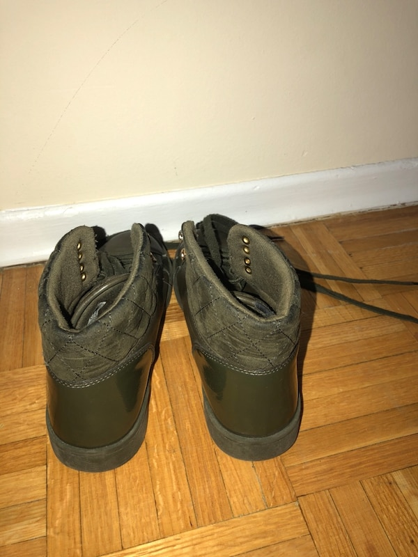 Army green shoes