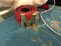 Red and black mcm gold buckle  Los Angeles, 91331