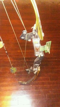 black and gray compound bow