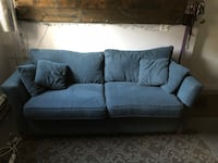 Blue fabric 3-seat sofa with love seat Vancouver, V5N 2A8