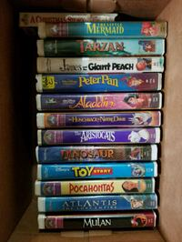 VHS children's movies