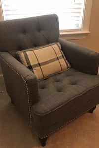 Charcoal gray tufted chair Fort Mill, 29707
