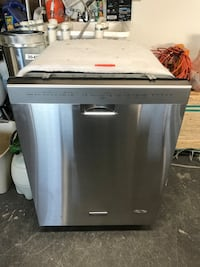 Stainless Steel KitchenAid Dishwasher stainless inside