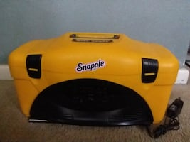 Snapple cooler with built-in radio