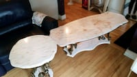 2 tables de marble et bronze Laval, H7V 3E8