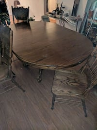 Antique Wooden Table 4 Carved Chairs Portsmouth, 23703