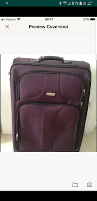 2 purple luggage bag.