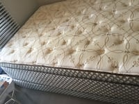 Q.size of Stearns  & Foster mattress and box.Negotiable. Vancouver, V6Z