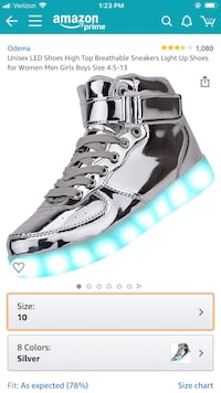 ODEMA light up sneakers - never worn / we got 2 pairs and missed deadline on return! $35 new Leesburg, 20176