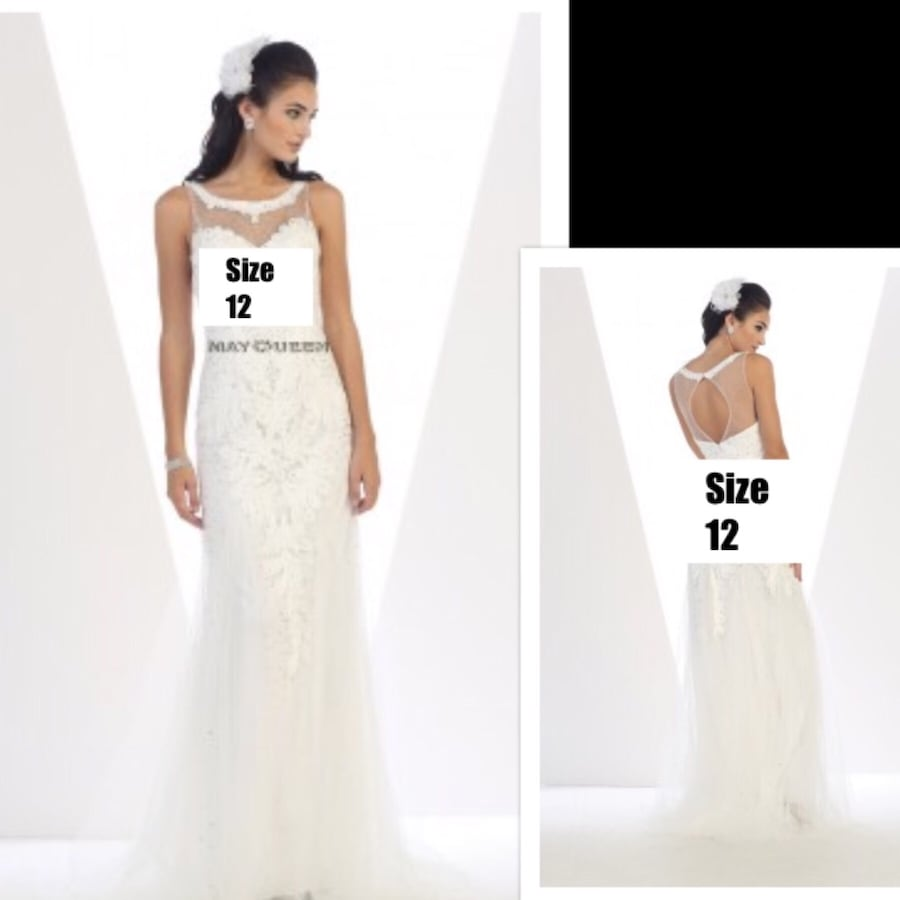 New With Tags Size 12 Wedding Gown $135