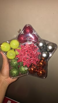 assorted-color bauble lot