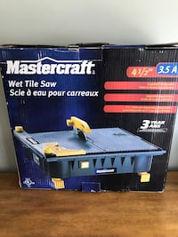 Mastercraft 4 1/2 Wet Tile Saw Calgary, T2Y 3A1