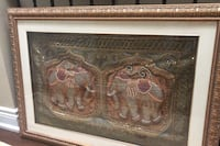 Picture frame with indian tribal handwork elephants.  Mississauga, L5L 4P4