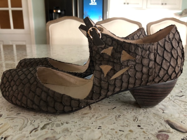 7dc626e7ade Used Beautiful 1940 s Inspired Tilapia Leather Gray Dress Shoes for sale in  Savannah - letgo