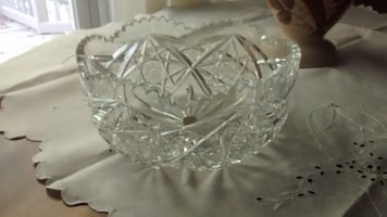 Pinwheel Crystal Bowl and Covered Box