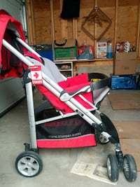 Stable Solid Comfort quality Lift to fold stroller-double wheels null
