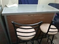 Indoor/outdoor bar with glass top n 2 bar stools  Fort Worth, 76108