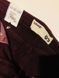 Velvet Burgundy Garage High Waist Jeggings Calgary, T2V 1G4