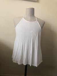 women's white scoop-neck sleeveless top Spring Valley, 10952