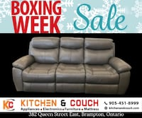 BOXING EXTENDED - Get a real leather recliner on lowest price in gta. Brampton