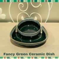 FANCY GREEN CERAMIC DISH  Ontario, 91762