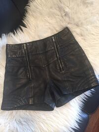 Black leather Guess shorts  Vancouver, V6G 1X1