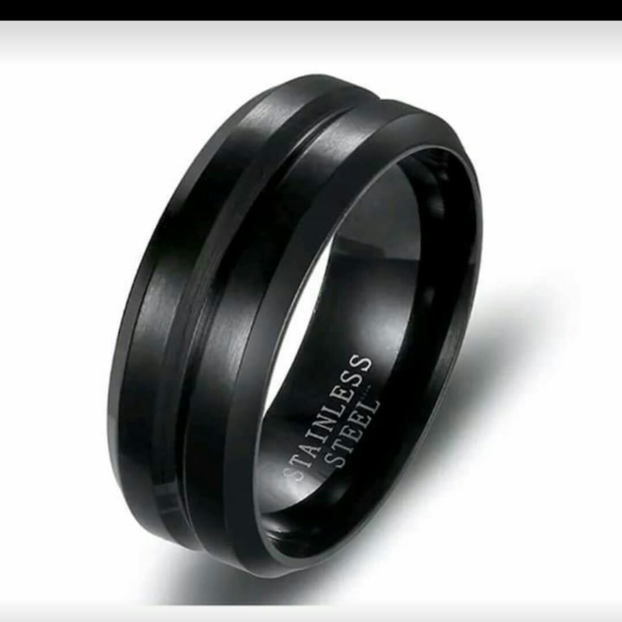 Beautiful black band stainless steel