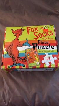 Floor Puzzle- Dr. Seus Fox in socks Brampton, L6X 1Z3