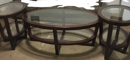 Coffee table &2 end tables