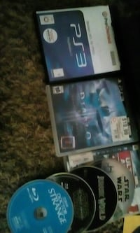 assorted Sony PS3 video game cases