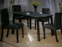 rectangular brown wooden table with four chairs dining set San Antonio, 78240