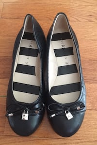 Anne Klein black leather flats size 6 NEW Herndon, 20171