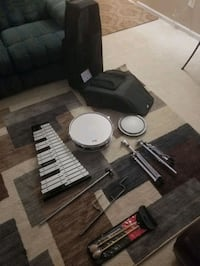 Percussion Set, Snare drum and Bells
