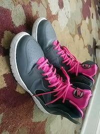 pair of black-and-pink Nike running shoes Washington