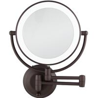 Zadro 10X/1X Magnification Cordless LED Lighted Dual Sided Wall Mirror, 7-1/2 Inch, Oil-Rubbed Bronze Mississauga