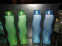 two green and blue glass bottles Fort Washington, 20744