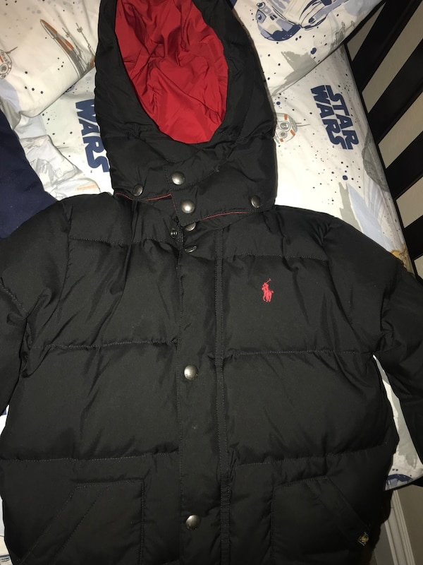 c813797ad Used Polo jacket - black with red interior - size 5 toddler ...