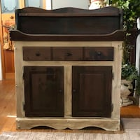 Antique brown and cream dry sink Wakefield, 01880