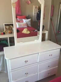 white wooden dresser with mirror Mississauga, L5M 0B1