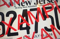 New Jersey Temporary Plates Catonsville