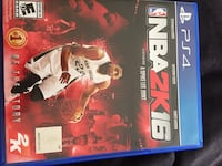 NBA 2K16 PS4 game case Horseheads, 14845