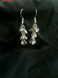 Handmade silver earrings  Garland, 75040