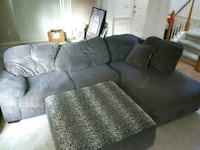 gray suede sectional sofa with throw pillows Norcross, 30071